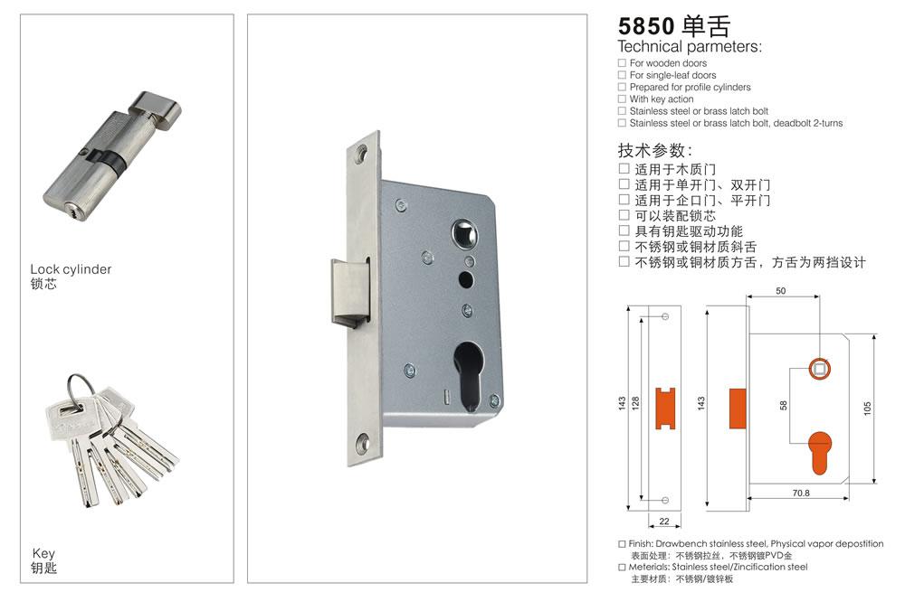 执手门锁中的防盗锁,根据锁芯的原理不同